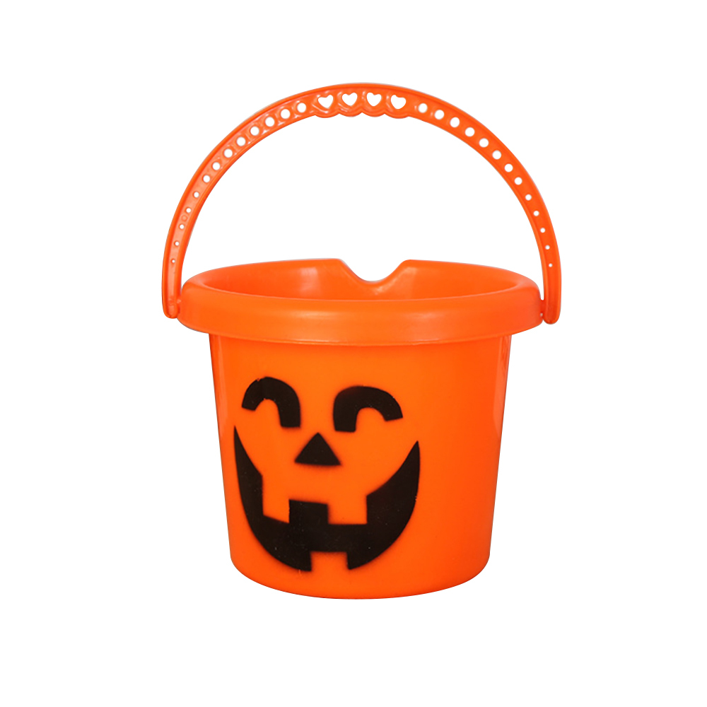 Accessoires de fête d'halloween en plastique citrouille seau astuce traiter Cosplay en plastique décoration support de pochette Halloween pot de citrouille décor