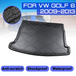 Коврик для багажника автомобиля, водонепроницаемые напольные коврики, поднос для защиты от грязи, коврик для груза для VW Golf 6 2009-2013