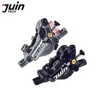 Juin Tech M1 mountain bike disc brake set cable line pull hydraulic disc saddle 160mm alloy black / gray for MTB XC e bike