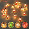 2M Santa Claus Christmas Tree LED String Lights Garland Snowflakes Christmas Decoration for Home Fairy Light New Year Xmas Decor