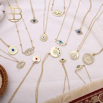 2020 New Fashion Ladies Chic Gold Chain Colorful Rhinestone Filled Evil Eye Coin Necklaces For Women Bohemian Gold Necklaces пальто gold chic chili gold chic chili mp002xw0ib3u
