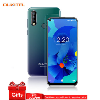 OUKITEL C17 Pro 6.35'' Android 9.0 4GB 64GB Smartphone 19:9 MT6763 CPU Fingerprint Face ID Octa Core 3900mAh 4G Mobile Phone