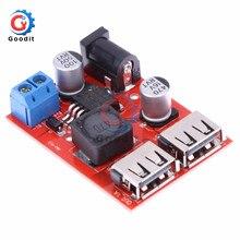 LM2596S двойной USB порт 9 В/12 В/24 В/36 В до 5 В DC-DC понижающее автомобильное зарядное устройство солнечный 3 А модуль питания 9-36 в до 5 В
