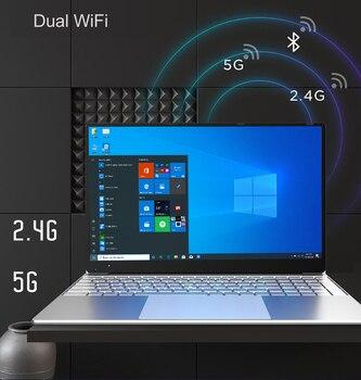 Fingerprint unlocking 15.6 inch laptops Windows 10 1920*1080 Intel Celeron J4125 12GB RAM 128GB/256GB/512GB/1TB HDMI Notebook 3