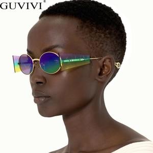 Round Vintage Sunglasses Women 2020 Luxury Brand Oval Steampunk Sun Glases Retro Punk Glasses Fashion Eyewear Shades UV400
