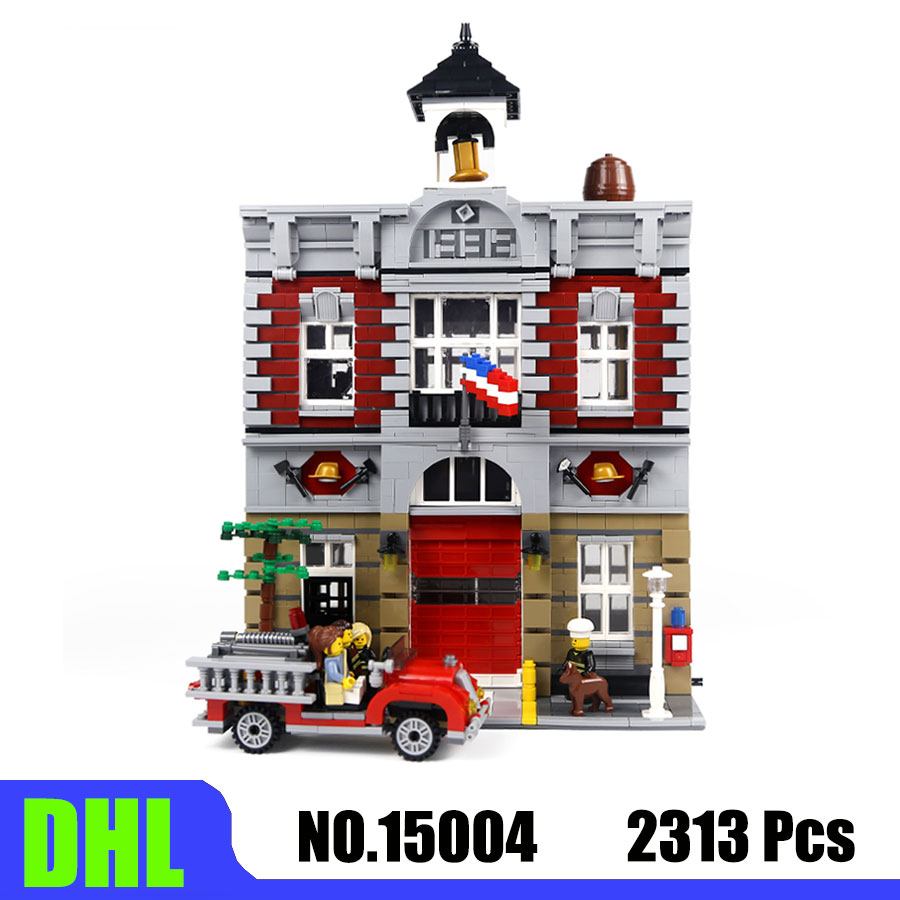 City Street View Series 15004/84004 Fire Station Model Toys 2313Pcs Building Blocks Bricks Compatible <font><b>10197</b></font> Christmas Gift image