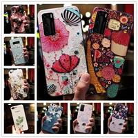 Per Xiaomi Poco F3 custodia 3D fiore in rilievo Cover telefono in Silicone per Xiaomi Poco M3 Pro 5G / Note 10t 10s X2 rilievo per Mi Max 2