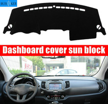 цена на For Kia sportage R 2011 2012 2013-2016 Right and Left Hand Drive Car Dashboard Covers Mat Shade Cushion Pad Carpets Accessories