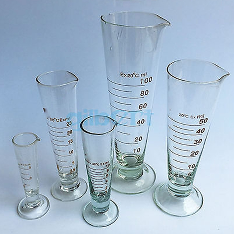 50ml Graduate Conical Glass Measuring Cup Measuring Glass Beaker  Laboratory Cylinder Chemistry Equipment