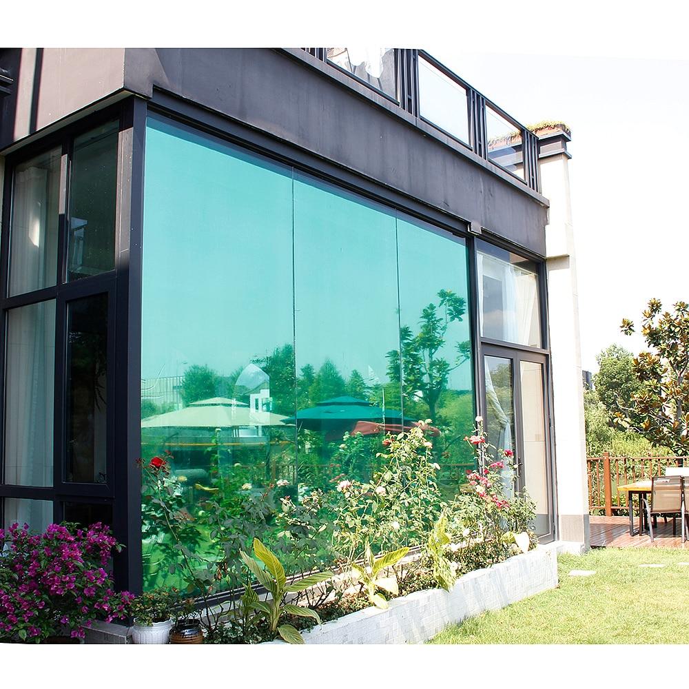 Reflective Silver 20 Solar Mirror Window Film One Way Privacy Sticky Tint