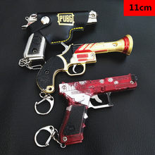 Game PUBG Weapon Gun Model Keychain 98K AWM VSS Key Holder Alloy Key Chains Cosplay Jewelry Size jedi eat chicken 2020 Key ring(China)