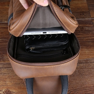 Image 5 - Neue design pu leder männer brust pack Koreanische mode casual braun schulter diagonal tasche flut männlichen Messenger sling Tasche