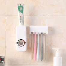 Automatic Toothpaste Dispenser ABS Plastic Silicone Bathroom Accessories Holder Home Lazy Squeezer
