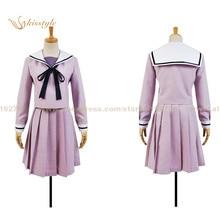 Anime Noragami Hiyori Iki üniforma Cosplay giyim kostüm