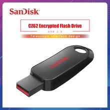SanDisk USB 2,0 CZ62 мини-накопитель 64 ГБ 32 ГБ 16 ГБ USB флеш-накопитель карта памяти U диск USB ключ Флешка для ПК