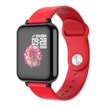 Relógio inteligente b57 rastreador de fitness mulheres dos homens crianças monitor de freqüência cardíaca presure sangue pulseira inteligente para ios android para dropshipping