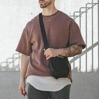 ASRV t-shirt Vintage da uomo in difficoltà estate nuova maglietta oversize manica corta Hip Hop uomo LOGO ricamo Tee Koszulka Haikyuu