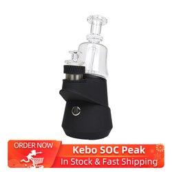 Nieuwe Kebo Soc Piek Enail Draagbare Vaporizer Vape Kit 2600 Mah Batterij & Temperatuur Instellingen Dab Rig Kit Vs Oura zwart/Puffco Piek
