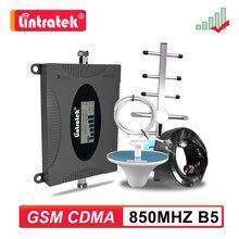 Lintratek LTE 850mhz CDMA GSM UMTS Celular sinyal güçlendirici 2g 3g 4g cep telefonu 850 tekrarlayıcı mobil telefon amplifikatör Repetidor seti ss