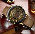 CURREN 8341 мужские часы модные повседневные с кожаным ремешком кварцевые наручные часы люксовый бренд водонепроницаемые военные часы Relogio ...