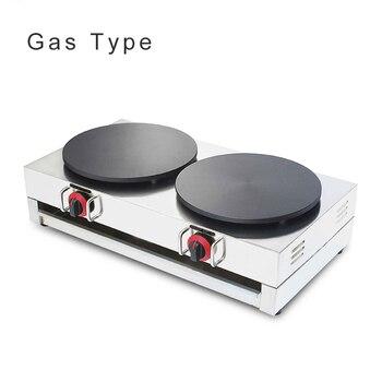 Commercial Gas Crepe Maker Double Burner 220v/110v Electric Pancake Machine Gas Crepe Making Machine NP-586 цена 2017