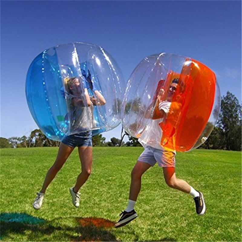 Adulte géant 120cm gonflable corps de boule de butoir Zorb balle jeux de Fitness balle enfant gonflable Zorb corps boule de butoir bulle Football