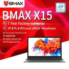 Bmax x15 15.6 polegadas portátil 1920*1080 intel gemini lago n4120 intel uhd gráficos 600 8gb lpddr4 ram 128gb ssd rom notebook x15