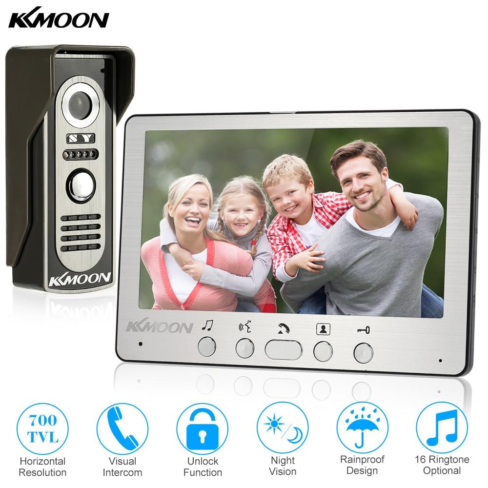 7'' TFT LCD Wired Video Door Phone Visual Video Intercom Speakerphone Intercom System With Indoor Monitor Outdoor IR Camera