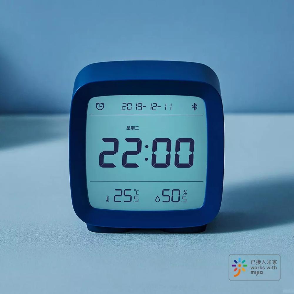 Image 2 - 在庫 Xiaomi 清平 Bluetooth 温度湿度センサー Mijia 夜の光 Lcd アラーム時計 Mihome アプリ制御温度計    グループ上の 家電製品 からの スマートリモコン の中