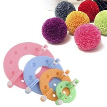 8 pçs 4 tamanhos fluff ball weaver pompom fabricante de tricô tear kit crianças diy artesanato suprimentos fabricante tricô ferramentas