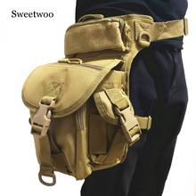Military Tactical Drop Leg Bag Tool Fanny Thigh Pack Hunting Bag Waist Pack Motorcycle Riding Men 1000D Military Waist Packs цена и фото