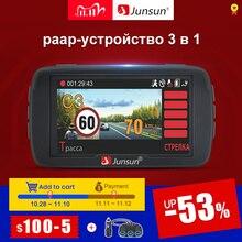 (11.11 code:11112020ES7)Junsun L2 3 en 1 Video del coche DVR Cámara Ambarella A7 Detector de Radar GPS LDWS Full HD 1296p registrador de cámara de 170 g