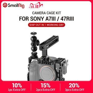 Image 1 - Комплект клетки SmallRig a7r3 для камеры sony a7m3 для камеры Sony A7R III/A7 III, клетка с верхней ручкой и шаровой головкой 2103