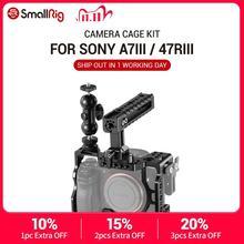 كاميرا صغيرة a7r3 هيكل قفصي الشكل للكاميرا لسوني a7m3 لسوني A7R III كاميرا/A7 III قفص تلاعب ث/مقبض علوي قبضة الكاميرا الكرة رئيس 2103