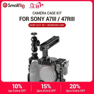 Image 1 - كاميرا صغيرة a7r3 هيكل قفصي الشكل للكاميرا لسوني a7m3 لسوني A7R III كاميرا/A7 III قفص تلاعب ث/مقبض علوي قبضة الكاميرا الكرة رئيس 2103