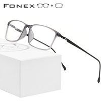 FONEX TR90 Alloy Prescription Glasses Men Myopia Eye Glass Eyeglasses Frame 2019 Korean Screwless Optical Frames Eyewear 9855