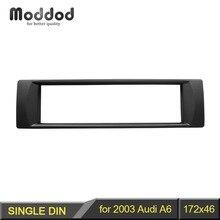 1 Din Audio Rahmen für 2003 Audi A6 DVD Umrüstung Fascia Trim Kit Installation Montieren Facia Platte Lünette
