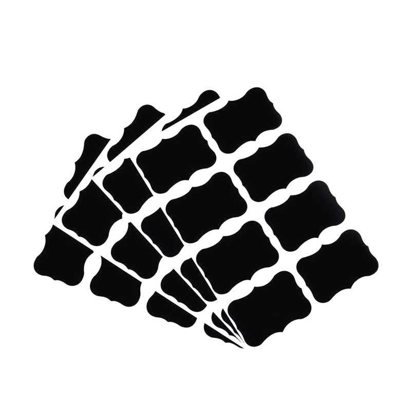 80 قطعة مطبخ مجلس مربى جرة الأسود تسميات السبورة ملصقات قابلة لإعادة الاستخدام الحلوى وجبة خفيفة الجوز زجاجة تخزين ديكور مع قلم الزيتية