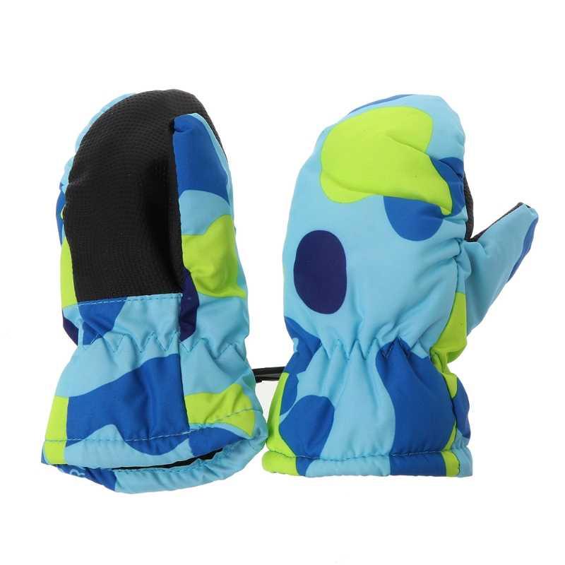 תינוק החורף עמיד למים חם כפפות ילד ילדה ילדים ילדים חיצוני סקי כפפות 19QF