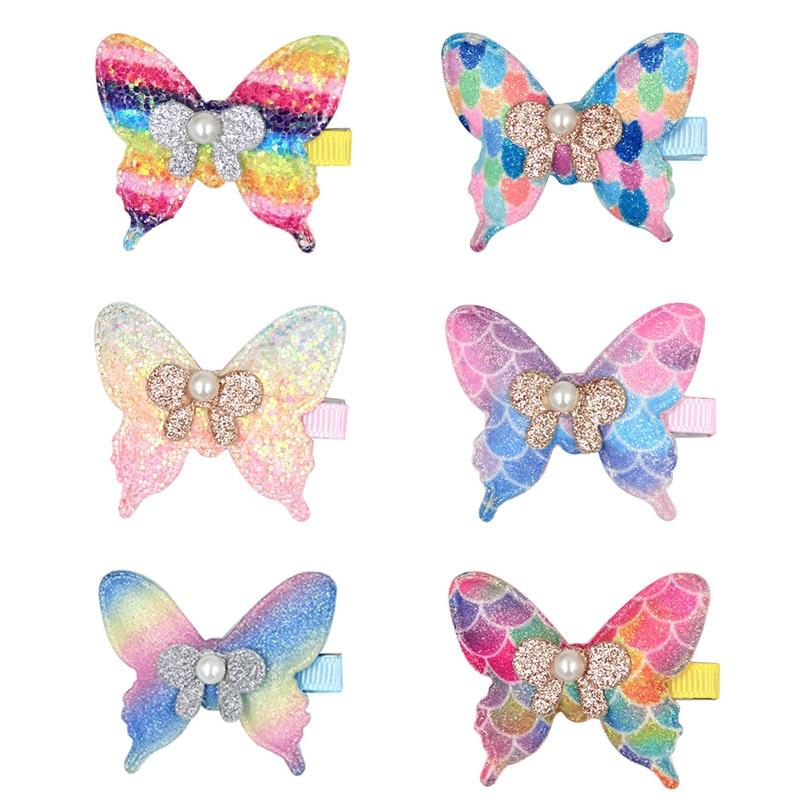 Cute Butterfly Hairclips Girls Baby Hair Clip Cartoon Hairpin Girls Hairpins Barrette Hairgrip Bobby Pin Hair Accessories