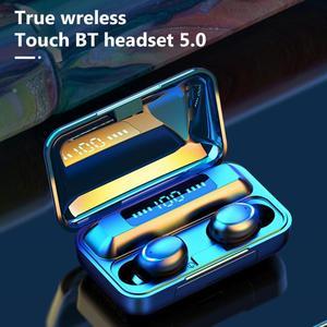 Image 2 - Ubeamer Draadloze Koptelefoon Touch Control, Led Display,Noise Annuleren Hoofdtelefoon, Waterdicht, beste Bluetooth F9 Menselijk Oordopjes Met Microfoon