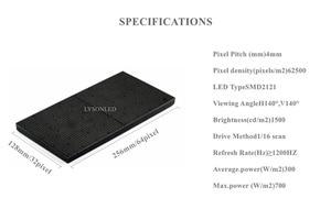 Image 5 - P4 מקורה RGB LED מטריקס 64x32 פיקסלים וידאו תצוגה מלא צבע פנל מודול משלוח חינם