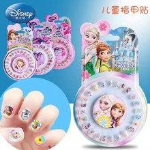 24 ciascuno una scatola Disney frozen 2 adesivi per unghie per bambini giocattolo Elsa e Anna Sofia principessa giocattolo decorazione unghie unghie finte regalo ragazza