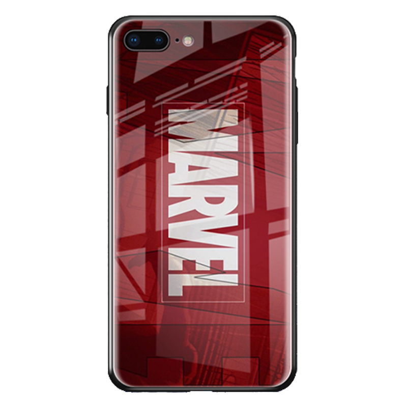 Купить с кэшбэком Luxury Marvel Luminous Tempered Glass Case For iPhone XS 11 Pro MAX XR 8 7 6 6s Plus X Samsung S8 S9 S10 S20 Plus Note8 9 10 Pro