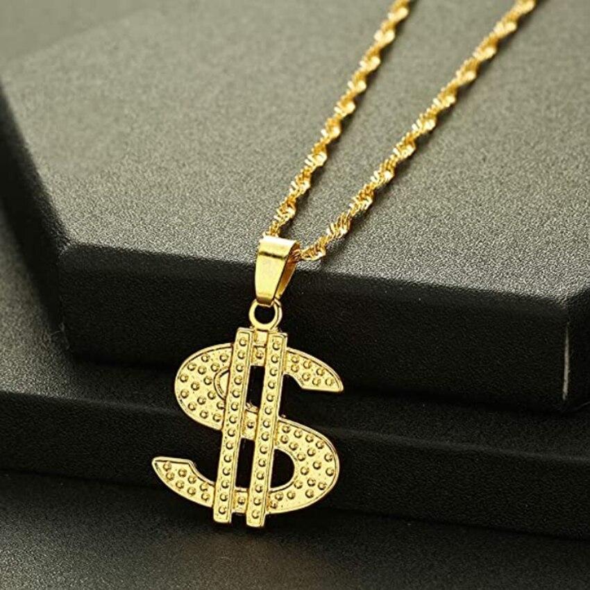Позолоченная цепь Cxwind, ожерелья в стиле хип-хоп, рэп, певица, деньги, доллар, раньше для женщин, мужчин, девушек, чокер, ювелирные изделия в под...