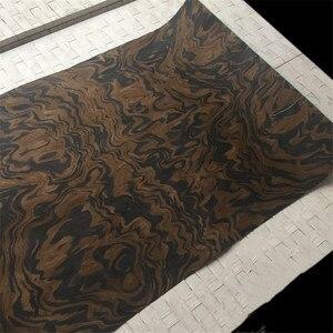 Image 2 - Placage de bois technique noyer noir ronce racine placage dingénierie E.V. 62x250cm Tissu Support