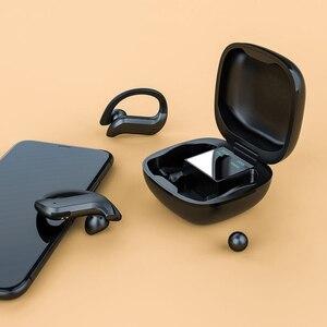 Беспроводная Спортивная Bluetooth гарнитура Md03 Tws 9d с шумоподавлением, водонепроницаемая светодиодная гарнитура с светодиодный фоном, стерео наушники с ушным крючком|Наушники и гарнитуры|   | АлиЭкспресс