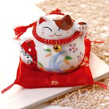 Lucky Cat КЕРАМИКА черный/белый Lucky Cats для семейного отеля Ресторан украшения Lucky Craft Подарки