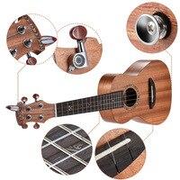 21 Acoustic Wooden Soprano Ukulele Ukelele Uke Mahogany Wood Carbon String with Padded Carrying Bag Strings Strap Clip on Tuner