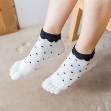 Quality Five Finger Toe Socks Women Cotton Spring Autumn Thi